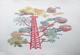 susan graham floral art print chine colle collage electrical tower