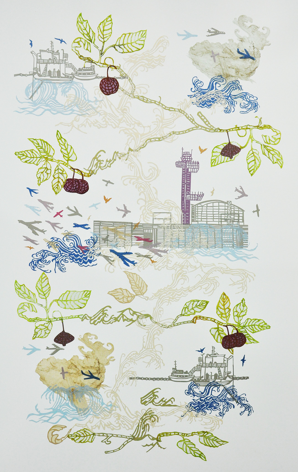 susan graham collage print blackburn
