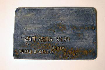 susan graham                                               porcelain credit card                                               ceramic